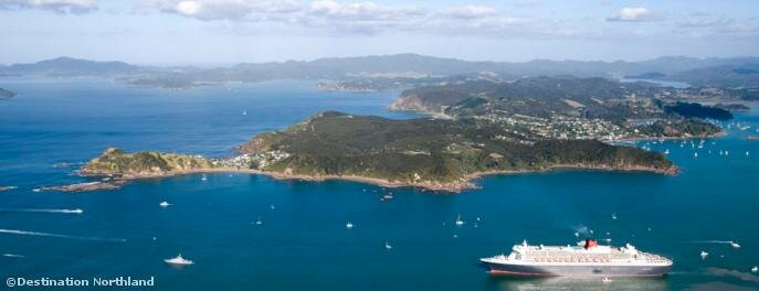 The Bay of Islands has regular cruise ships visiting through the summer months