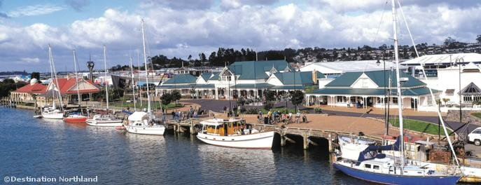 The marina is right in the heart of Whangarei city.